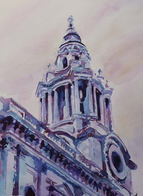 A Spire of Saint Pauls, Painting the Cathedral by Jenny Armitage