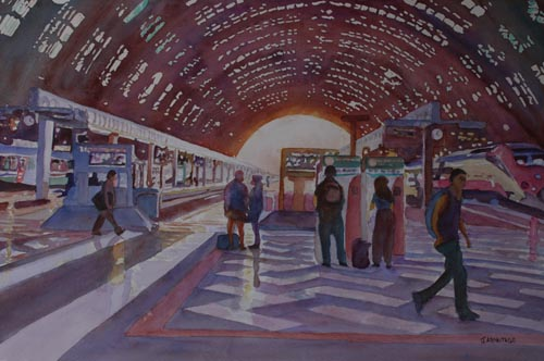 Milano Centrale, Watercolor Painting By Jenny Armitage