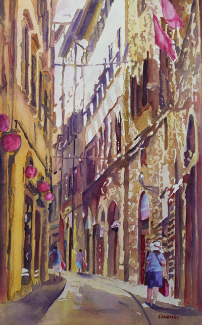 Late Afternoon Florence, Painting by Jenny Armitage