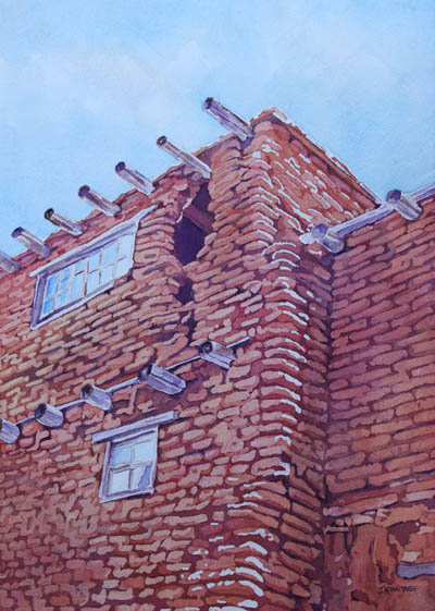 Acoma Home, a Watercolor Painting by Jenny Armitage