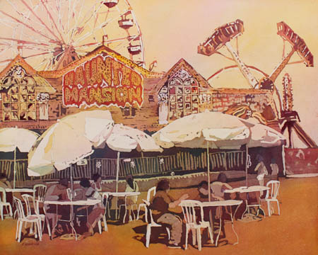 At the Fair, Watercolor Painting by Jenny Armitage