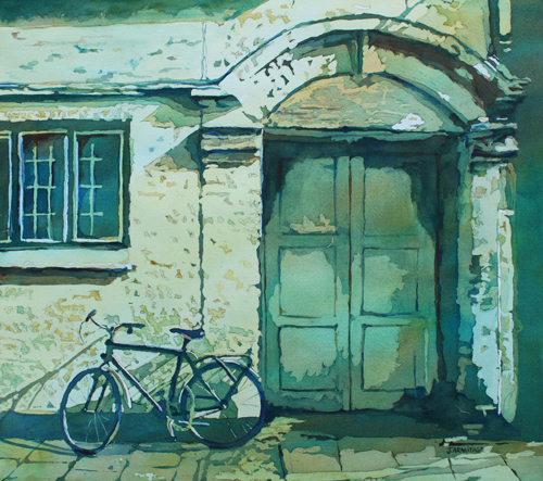 Oxford Bike, Original Painting by Jenny Armitage