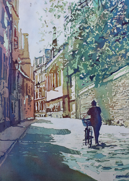 Brasenose Lane, Original Painting of Oxford, by Jenny Armitage