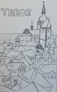 Drawing of Tabor, Czech Republic, by Jenny Armitage