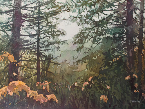 Fog Over Croisan Valley, Original Painting of Salem, Oregon by Jenny Armitage