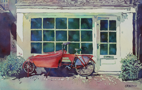 The Contraption at Number Two, Watercolor By Jenny Armitage