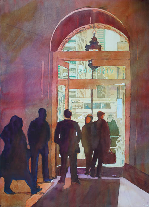 Door to Chicago, an original watercolor by Jenny Armitage