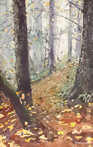 Foggy Path, Original Painting by Jenny Armitage