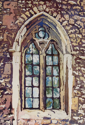 Gothic Window, Original Painting by Northwest Artist Jenny Armitage