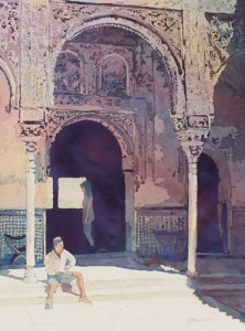 Alhambra Muse, Original Painting of Spain by Jenny Armitage