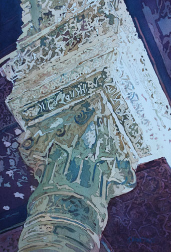 Mudejar Pillar No. One, Original Painting by Jenny Armitage