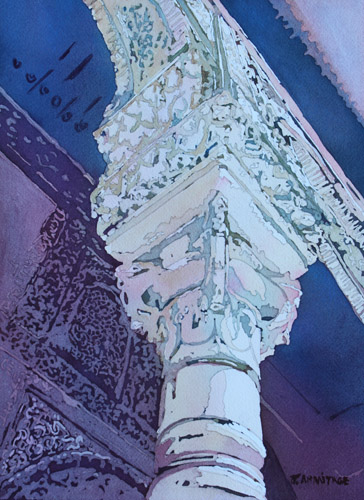 Mudejar Pillar No. Two, Original Painting by Jenny Armitage