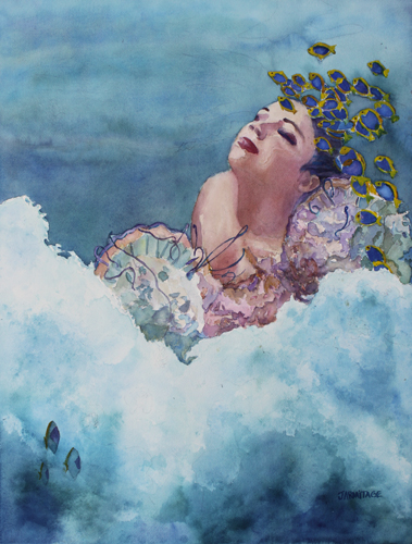 Birth of Venus Two, Original Watercolor by Jenny Armitage