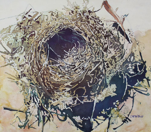 Empty Nest, Original Painting by Jenny Armitage