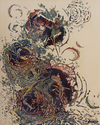 Empty Nest II, An Abstract Painting by Jenny Armitage