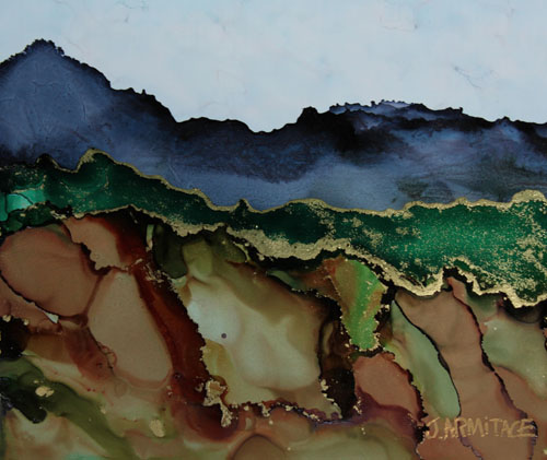 Blue Mountains I, Small Original Painting, by Jenny Armitage