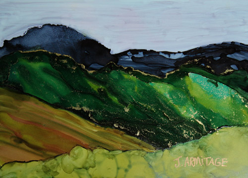 Blue Mountains III, an Small Original Painting by Jenny Armitage