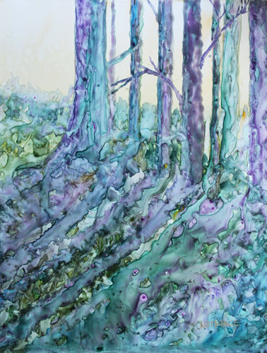 Early Spring, Original Painting by Jenny Armitage
