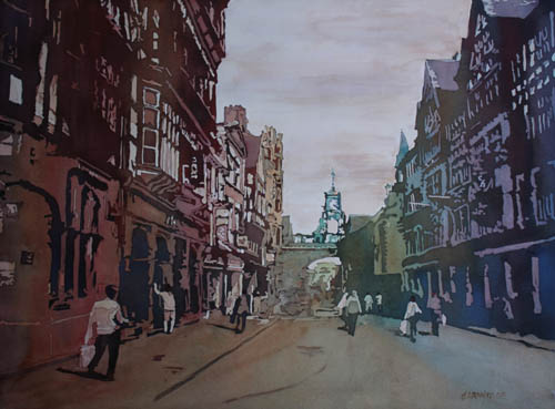 Chester Eastgate Clock, Original Painting by Jenny Armitage