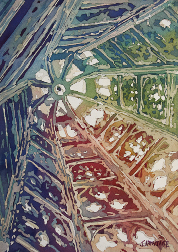 Looking Up Cologne, Original Watercolor by Jenny Armitage