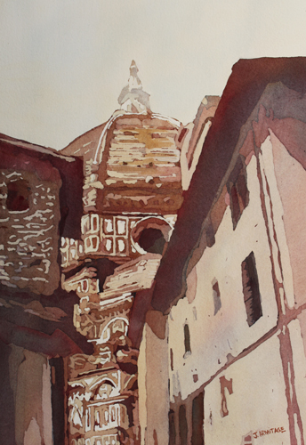 The Ultimate Alley View Take Two, Painting of the Duomo By Jenny Armitage