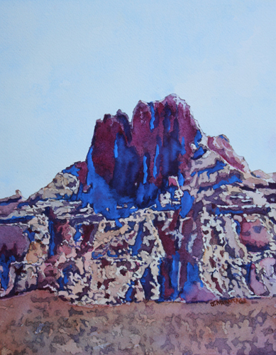 Tooth, Watercolor of Badlands National Park by Jenny Armitage.