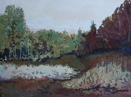 Dry Meadow, Watercolor Painting By Jenny Armitage