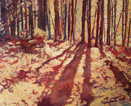 Wood's Edge, Original Watercolor Painting by Artist Jenny Armitage