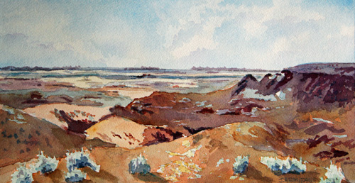 Painted Vista, Original Watercolor Painting by Jenny Armitage