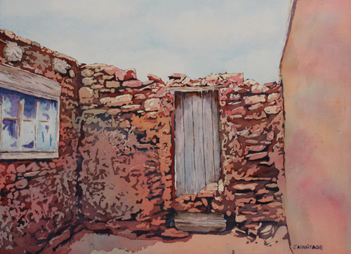 Doorway to the Sky, Original Pueblo Watercolor by Jenny Armitage