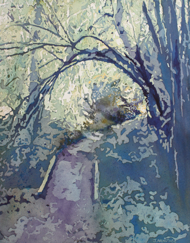 Forest Archway, Original Painting by Jenny Armitage